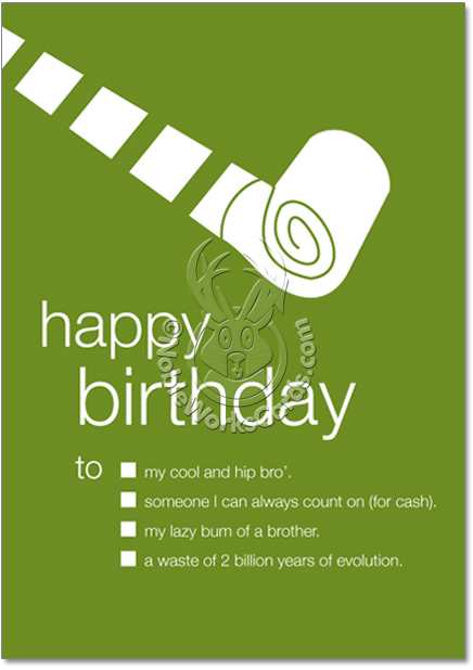 Birthday Card Brother Funny