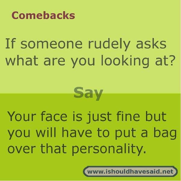 Great comeback Jokes