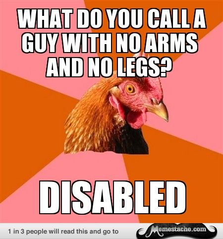 No man arms jokes with What Do
