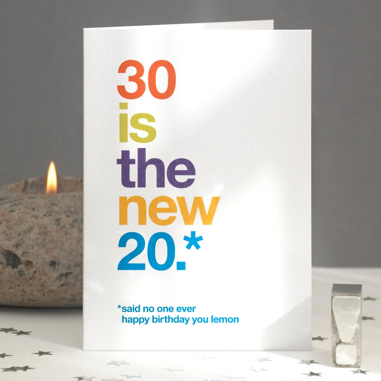 Funny 30th Birthday Card Sarcastic