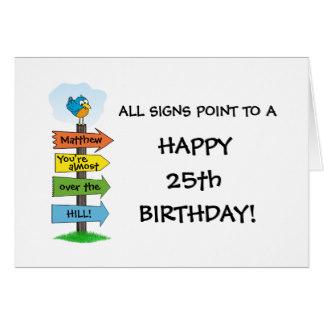 Funny 25th Birthday Cards Zazzle