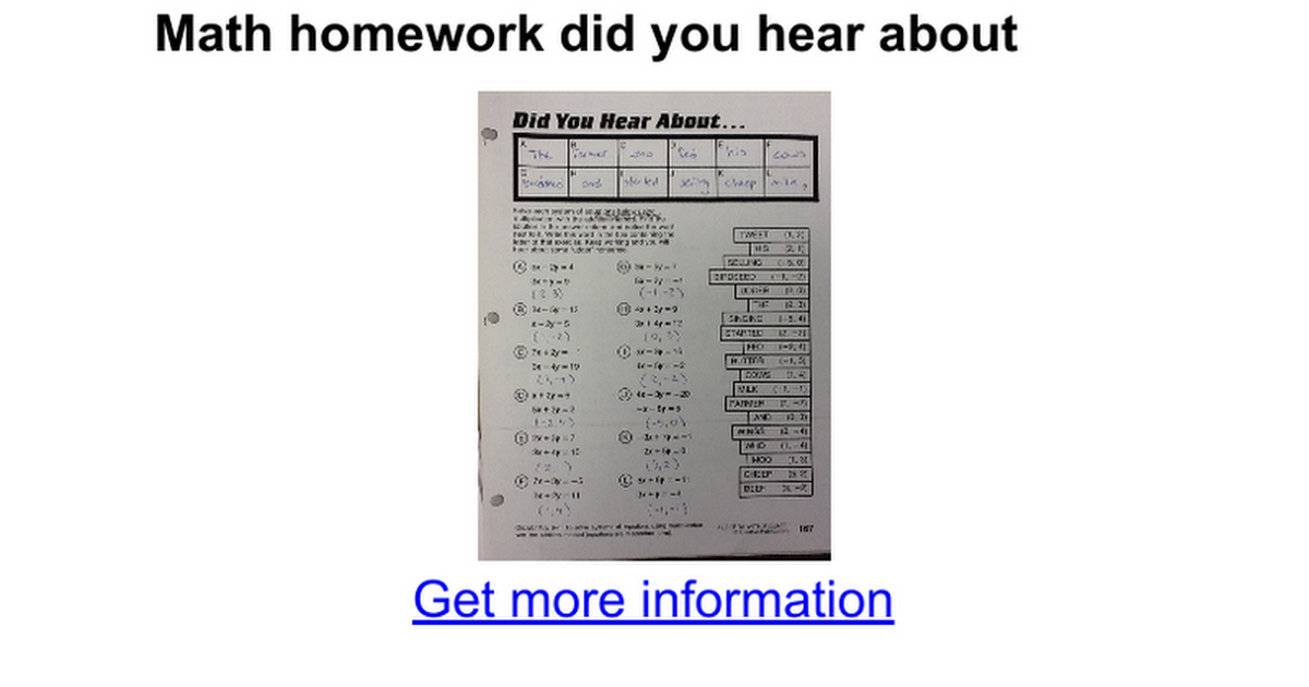 Math Worksheet Did You Hear About The Farmer Kidz Activities. Math Joke Worksheet Did You Hear About Sewdarncute. Worksheet. Did You Hear About Math Worksheet Answers At Mspartners.co