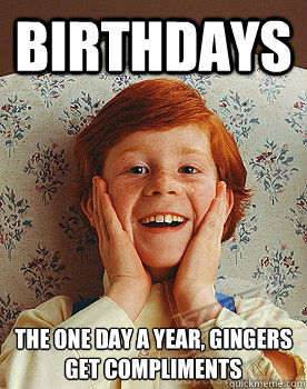 82 Birthday Cards For Redheads
