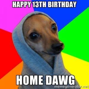 Funny 13th Birthday Jokes