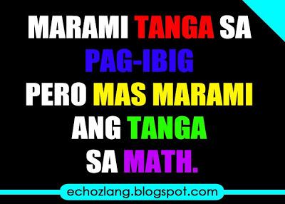 Tagalog Math Jokes