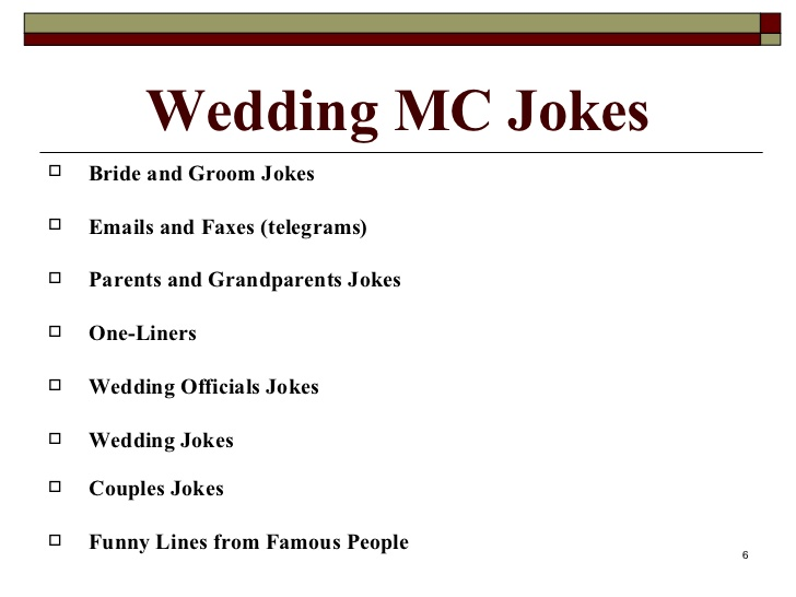 one liner wedding jokes