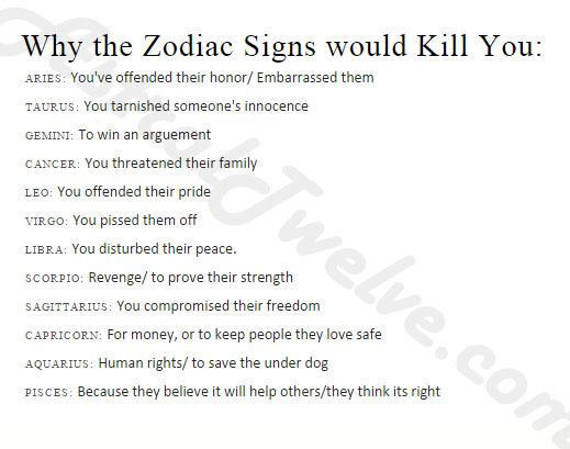 Zodiac Jokes