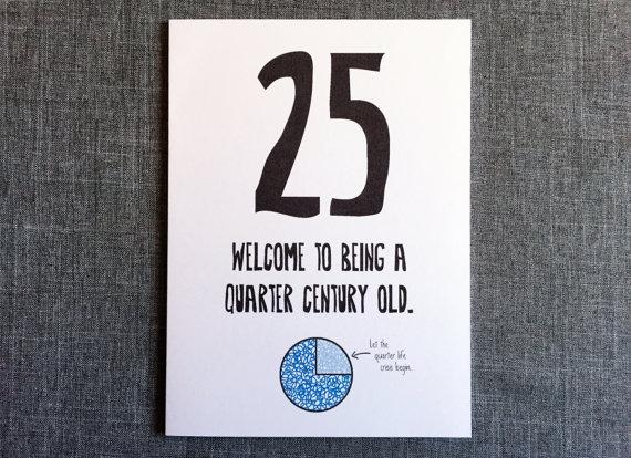 Funny 25th Birthday Card By