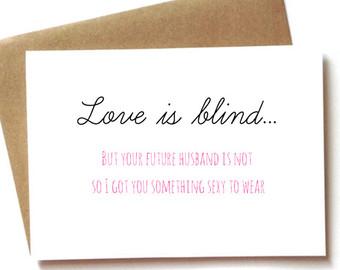 bridal shower card engagement card for bride bachelorette