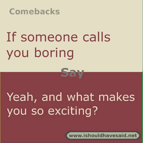 Funny comebacks Jokes