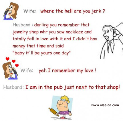 Wife And Husband Funny Jokes