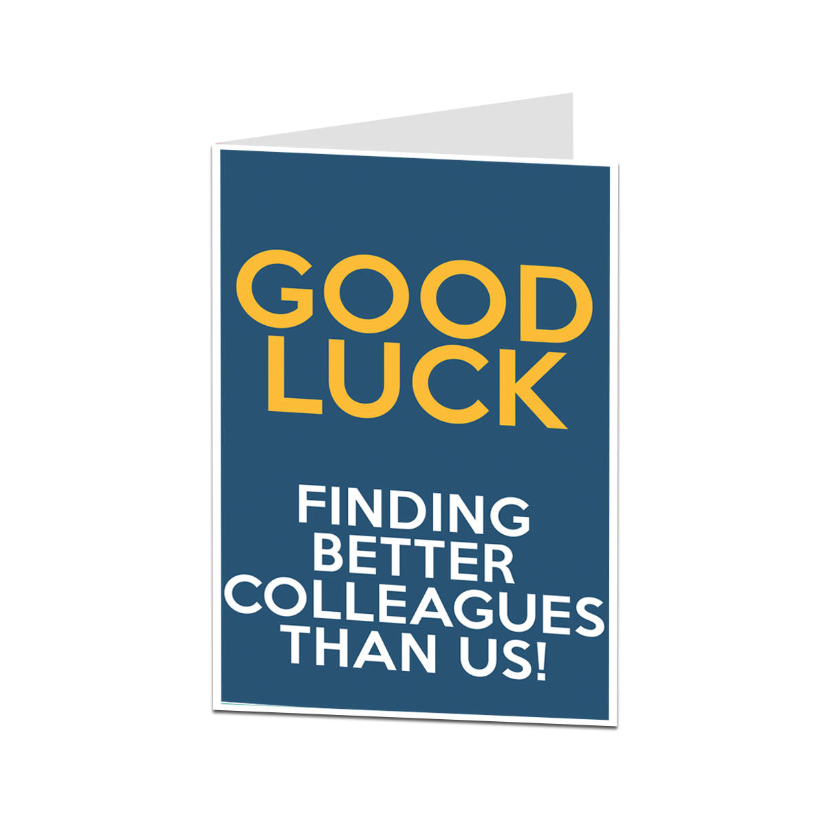 SORRY YOUR LEAVING CARDS GOOD LUCK Comedy Funny Humour Rude Banter Joke N