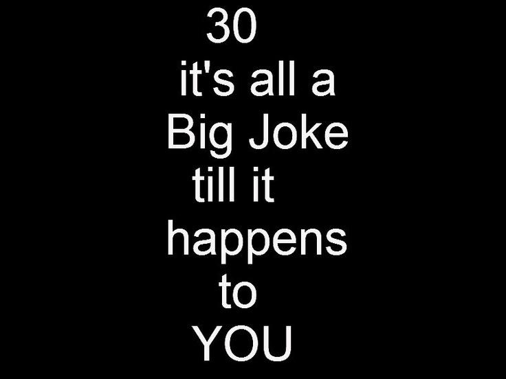 Over 30 Birthday Jokes