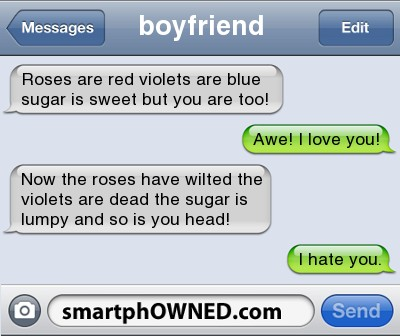 roses are red violets are blue poems jokes