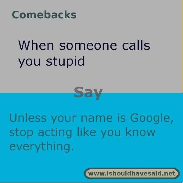 Comebacks Jokes