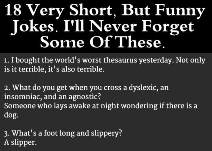 really good short jokes