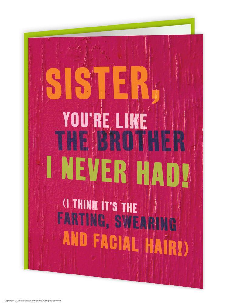 Brainbox Candy Brother Bro Birthday Greeting Cards funny rude cheeky joke humour