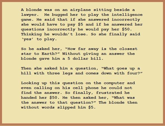 Good blond Jokes