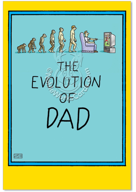 Dad birthday jokes dad and darwin c oons birthday father greeting card stan m4hsunfo