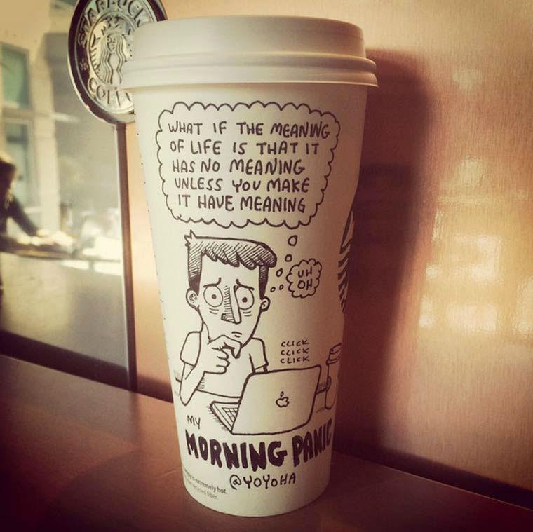 летнего типа прикольные пожелания на стакан кофе сердце бумаги просто
