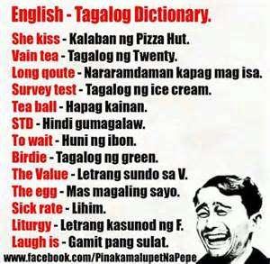 English tagalog dictionary Jokes