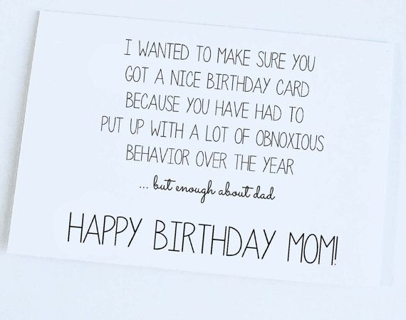 Funny Mom Birthday Jokes