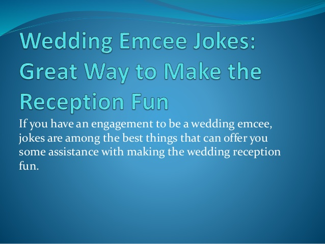 Wedding Reception Jokes