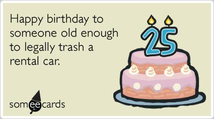 Funny 25th Birthday Jokes