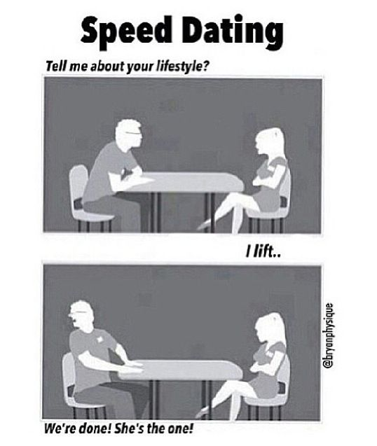Jokes about speed dating