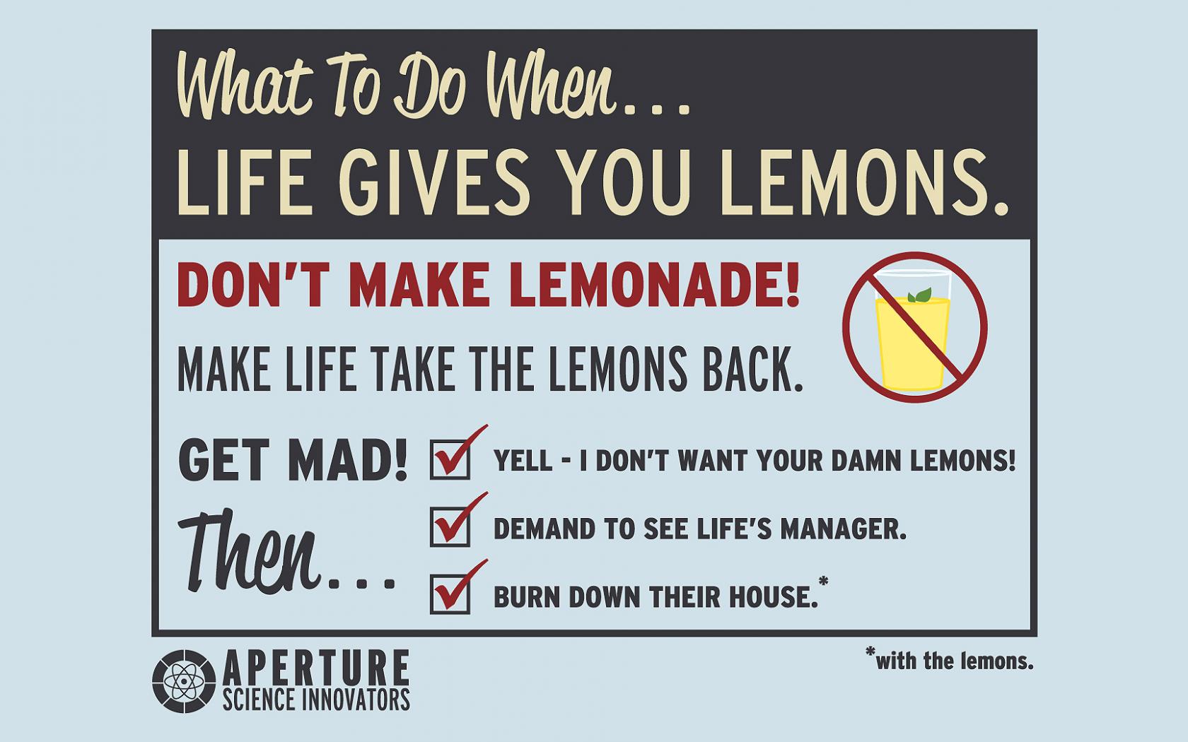 When Life Gives You Lemons Jokes
