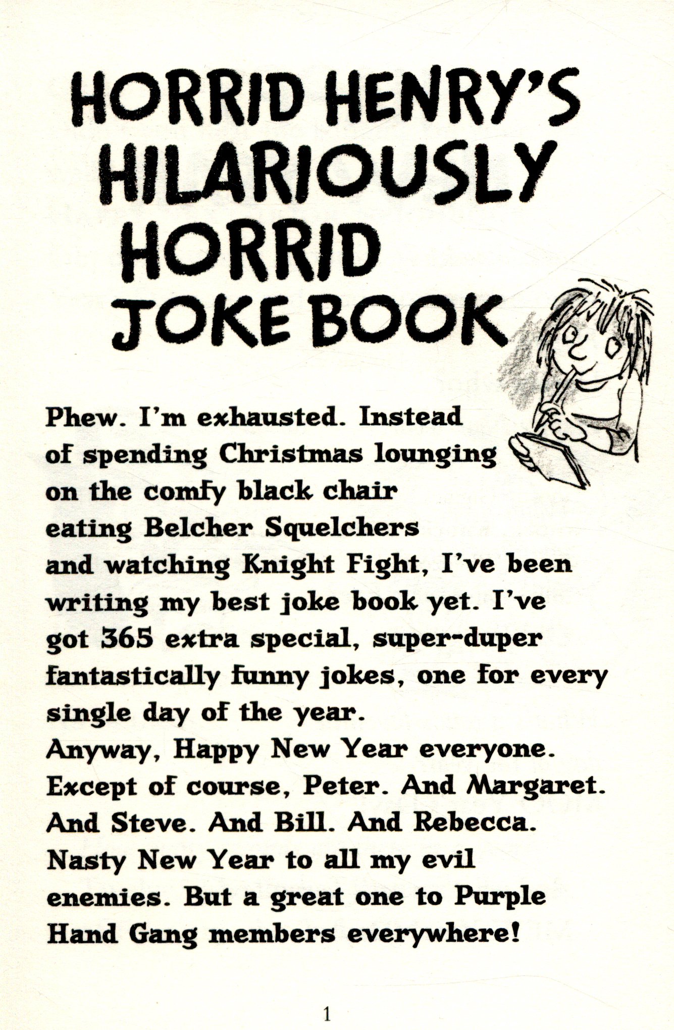 Horrid henry Jokes