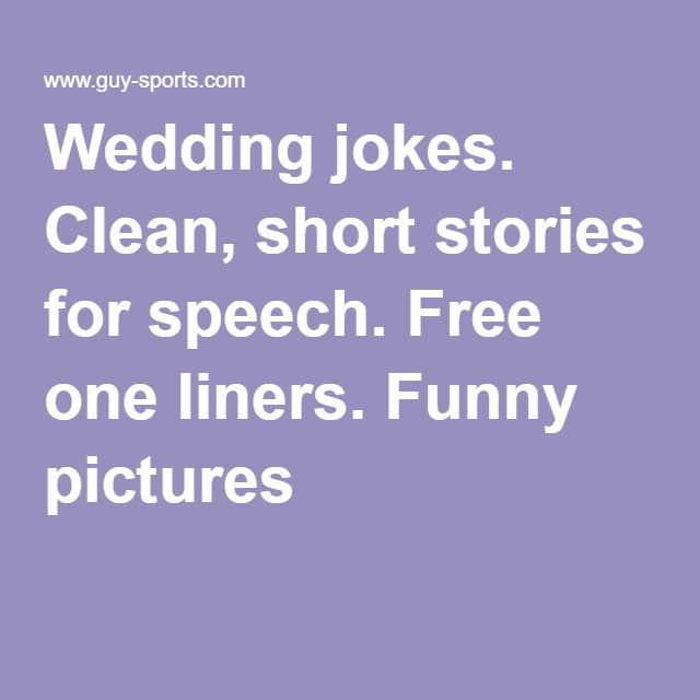 wedding s clean short stories for speech one