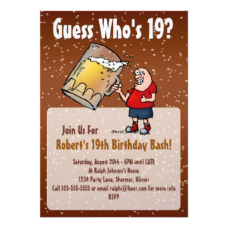 Funny 19th Birthday Jokes