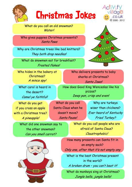 Short clean christmas Jokes