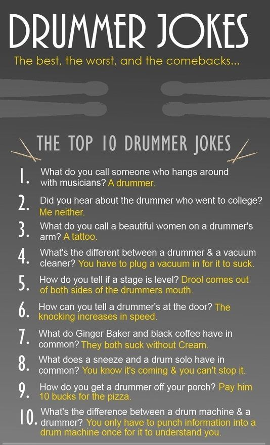 Jokes about sex with a drummer