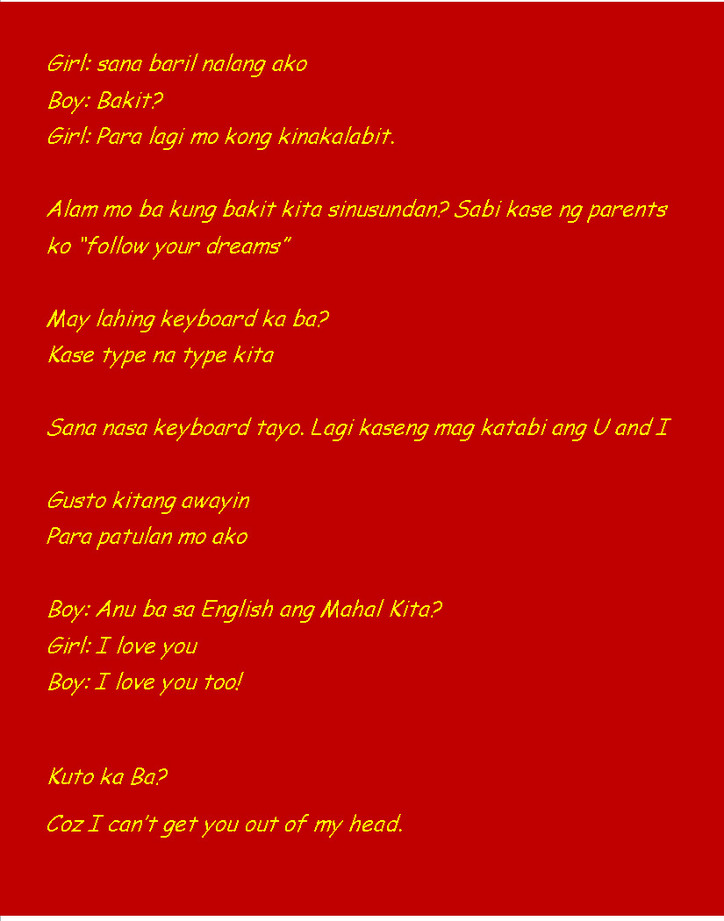 Pick lines pinoy new up Best Pick