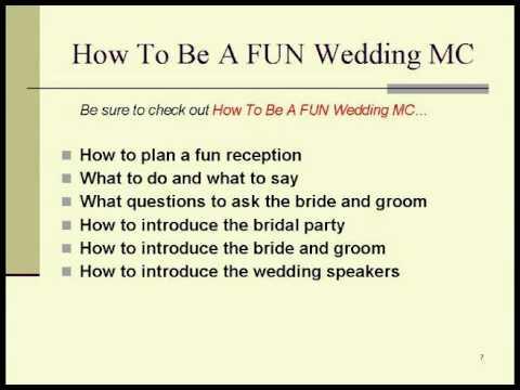 Wedding Reception Emcee Jokes