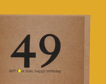 50th Birthday Cards Etsy