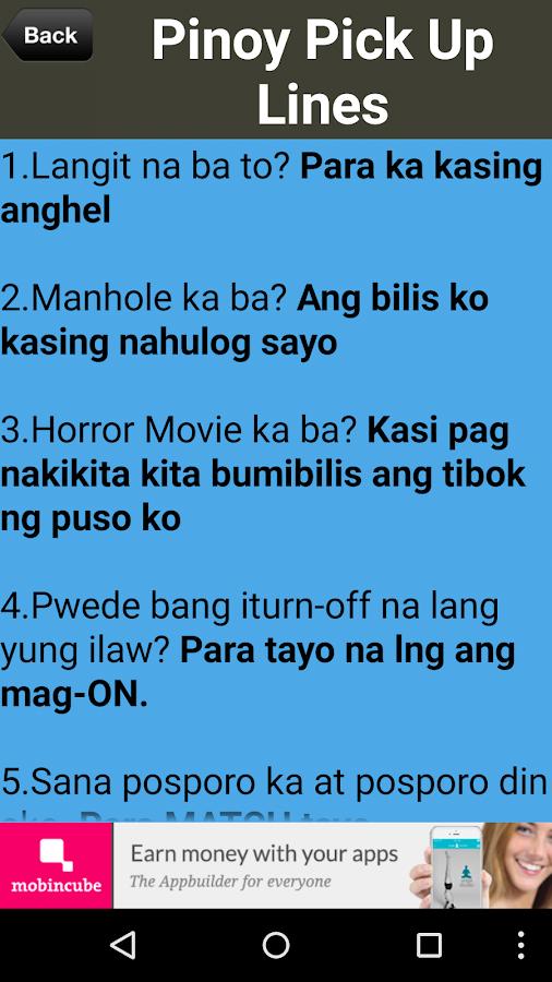 Tagalog pick up lines Jokes