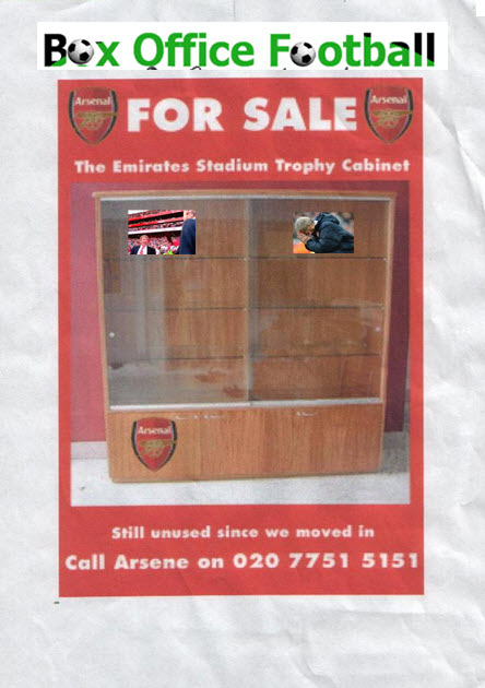 Arsenal Put Their Rare Trophy Cabinet Up For Sale