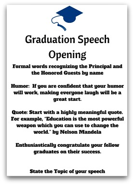 Graduation speech 6 essay custom paper example february 2019.