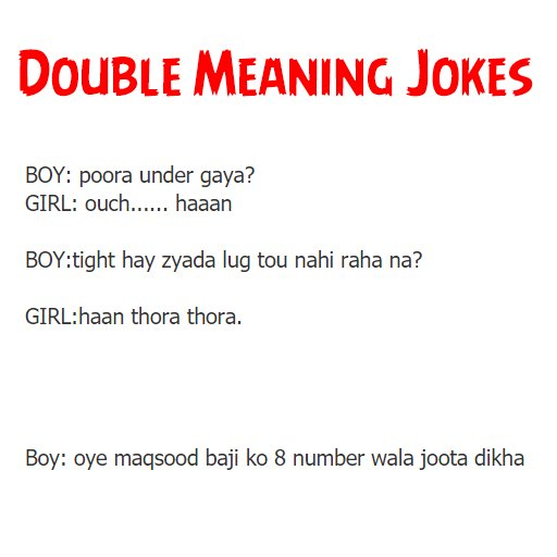 Double Meaning English Jokes