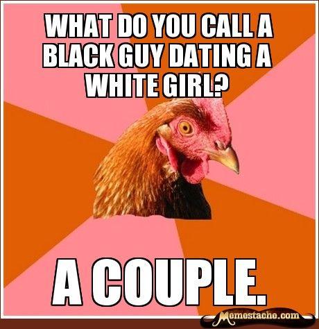 black girl dating a white guy jokes